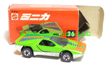 Hot Wheels Mattel Japan Box, Carabo in Green Enamel with blackwalls