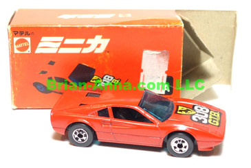 Hot Wheels Mattel Japan Box,  Race Bait Ferrari 308 GTB Red with blackwalls