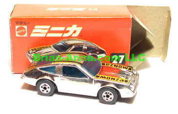 Hot Wheels Mattel Japan Box, Chevy Monza in Chrome  with blackwalls