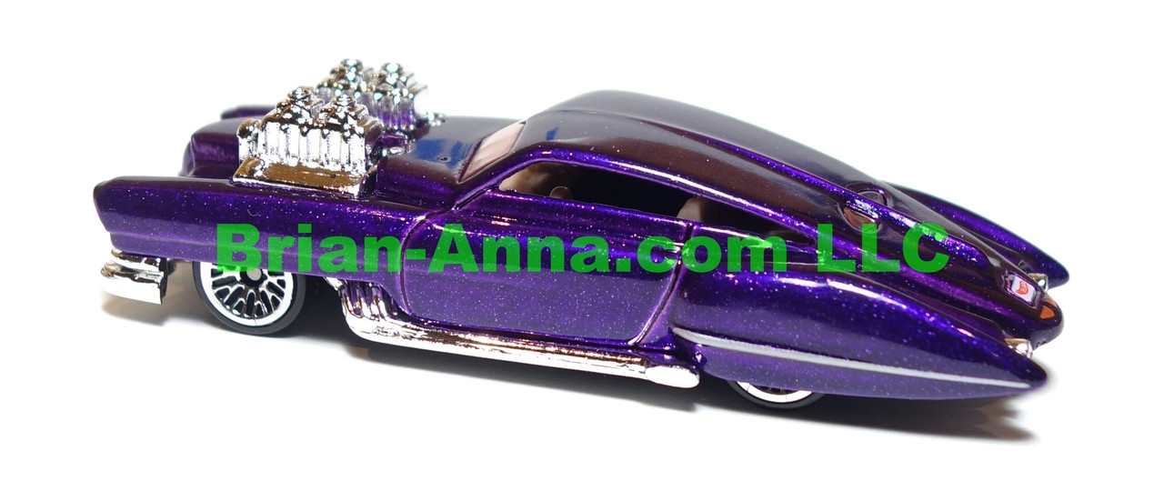 Hot Wheels Evil Twin, metalflake purple, lace wheels, Malaysia base, loose
