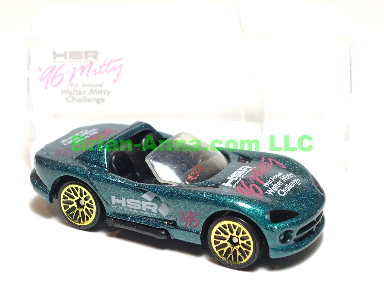 Hot Wheels Dodge Viper R/T 10 in Green, Walter Mitty Challenge Code 3