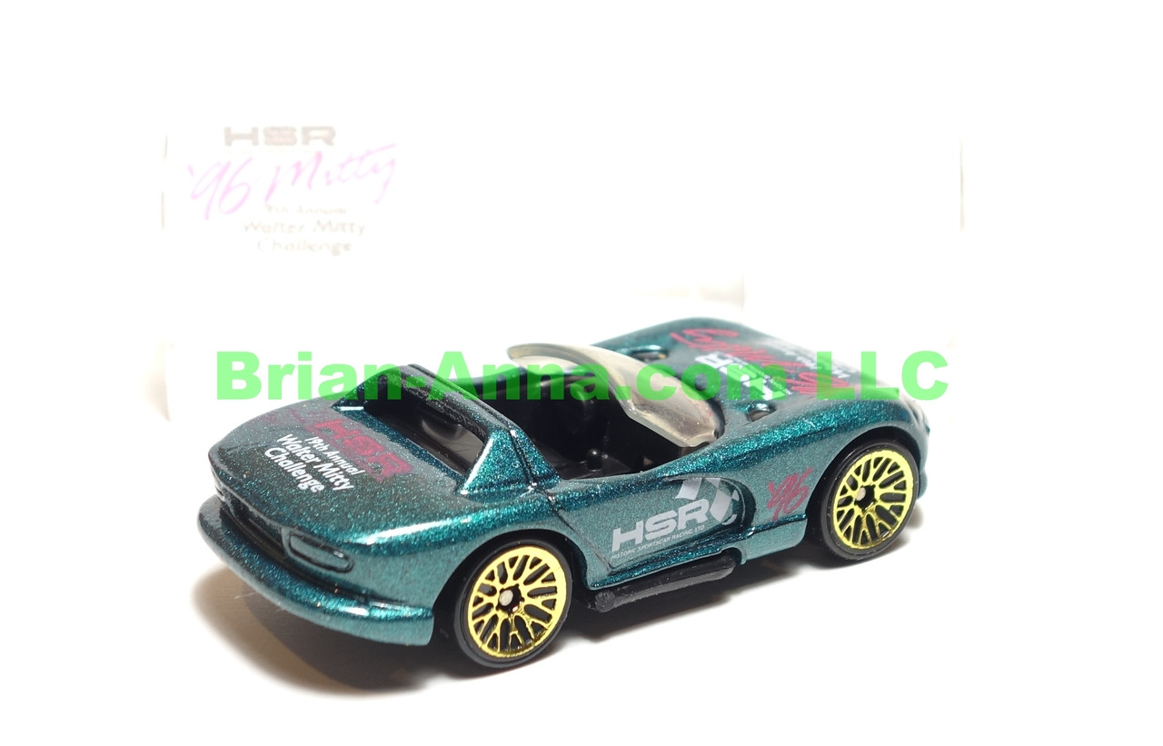 Hot Wheels Dodge Viper R/T 10 in Green, Walter Mitty Challenge Code 3