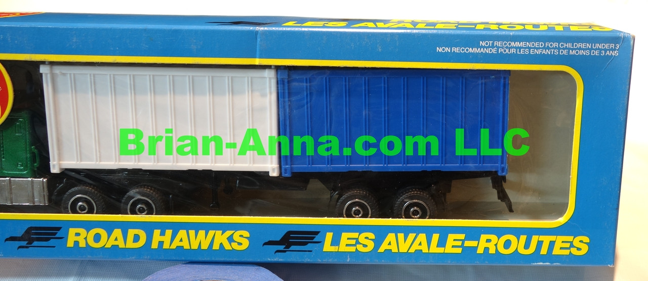 Hot Wheels Road Hawks Cargo Container Transport 1/43 Scale Trucks