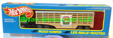 Hot Wheels Road Hawks Cow Transport Truck 1/43 Scale Trucks