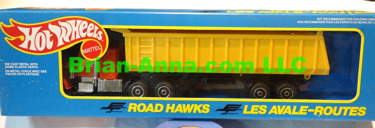 Hot Wheels Road Hawks Gravel Transport Truck 1/43 Scale Trucks