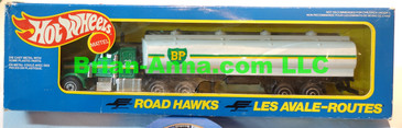 Hot Wheels Road Hawks BP Tanker Transport Truck 1/43 Scale Trucks