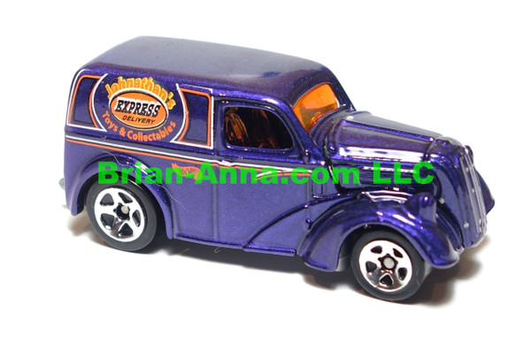 Hot Wheels Anglia Panel Truck purple, sp5 wheels, Malaysia base, loose