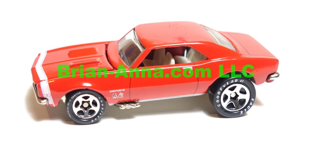 Hot Wheels 67 Camaro, Limited Edition Camaro Club, Red, sp5 wheels, China base, loose