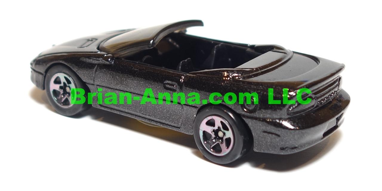 Hot Wheels, 95 Camaro Convertible, Black, black interior, black tint sp5 wheels, Malaysia base, from 8-car store exclusive, loose
