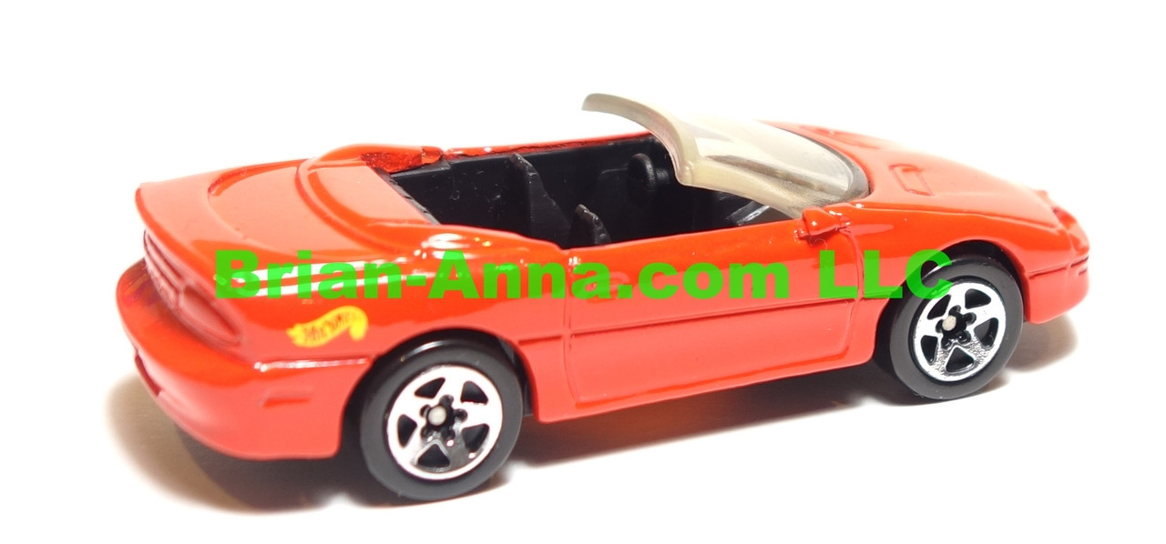 Hot Wheels 95 Camaro Convertible,  Red, sp5 wheels, Malaysia base, loose