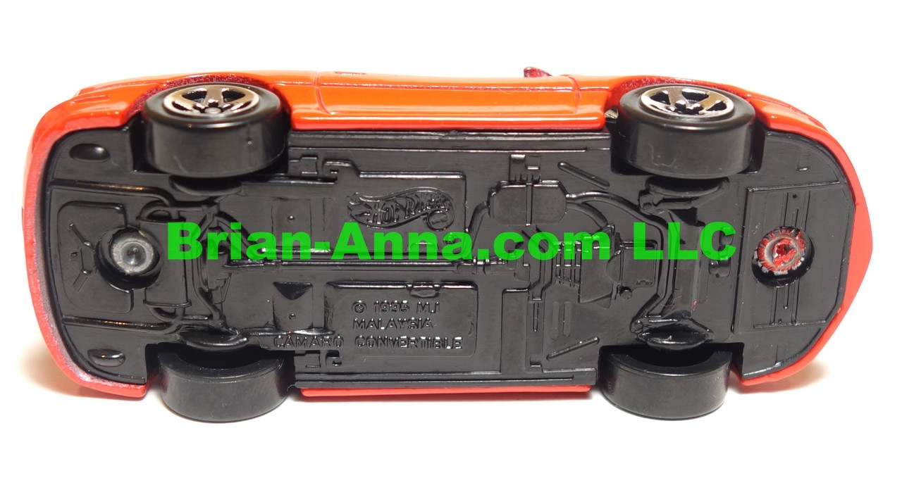Hot Wheels 95 Camaro Convertible,  Red, sp5 wheels, Malaysia base, loose