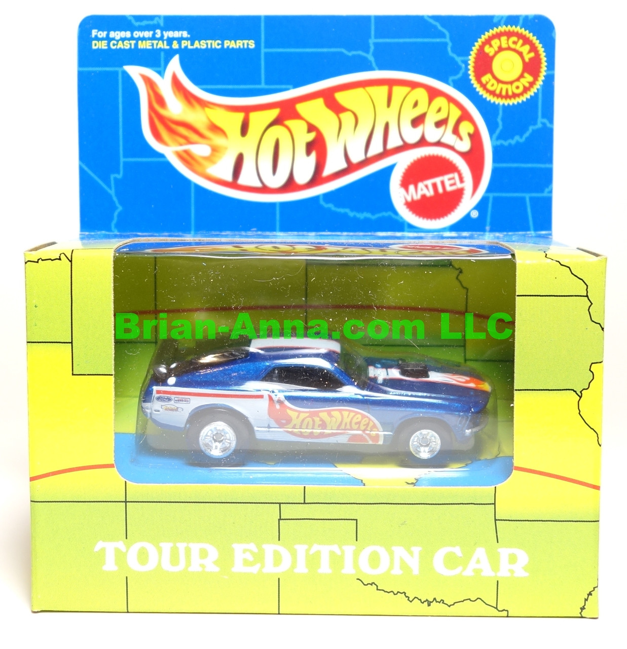 Hot Wheels Mustang Fastback, Power Tour promo Tour Edition on the Box