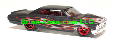 Hot Wheels 2008 Mystery Car, Custom 1964 Ford Galaxie in Flat Black, loose