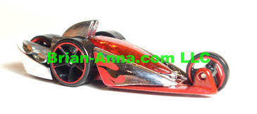 Hot Wheels 2008 Mystery Car, Quad Rod Chrome/Red, loose