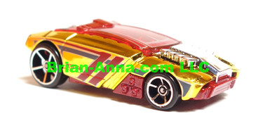 Hot Wheels 2009 Mystery Car, Rogue Hog in Gold Chrome/Red,  loose