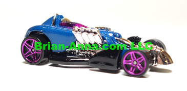 Hot Wheels 2008 Mystery Car, Saltflat Racer in Blue,  loose
