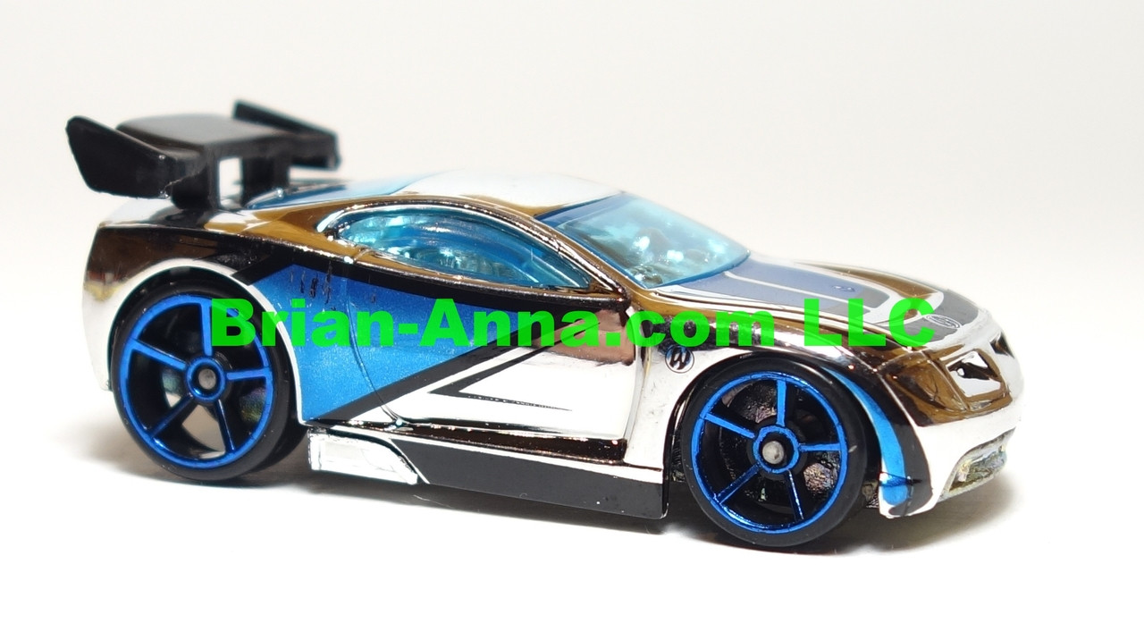 Hot Wheels 2007 Mystery Car, Power Rage in Chrome/Blue,  loose