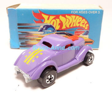 Hot Wheels Leo Mattel India, Purple Neet Streeter, Yellow Stars & Stripes tampo, with box