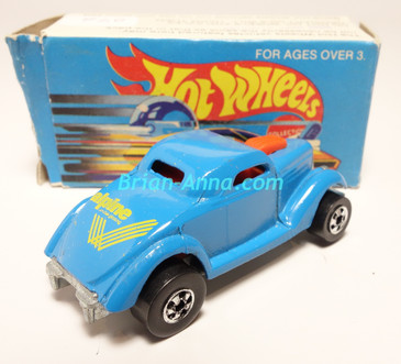 Hot Wheels Leo Mattel India, Light Blue Neet Streeter, Yellow Alpine tampo, with box