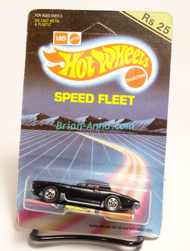 Hot Wheels Leo Mattel India, Black Stutz Black Hawk, unpunched card