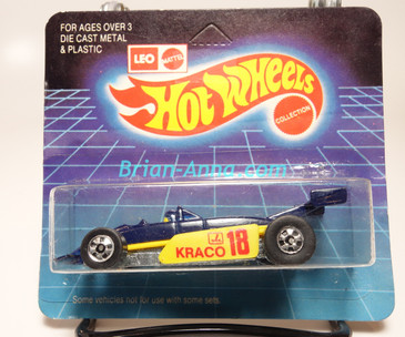 Hot Wheels Leo Mattel India, Blue Thunderstreak, Kraco, unpunched card