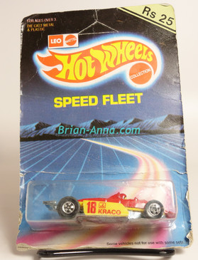 Hot Wheels Leo Mattel India, Red Thunderstreak, Kraco, unpunched card