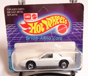 Hot Wheels Leo Mattel India, White Pontiac Fiero, unpunched card (ms3india-156)