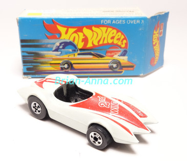Hot Wheels Leo Mattel India, Second Wind White with Red tampo, w/BoxUnpunched Blister card