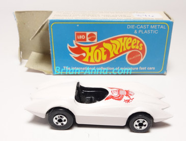 Hot Wheels Leo Mattel India, Second Wind White with Red Presidential seal tampo, w/Box