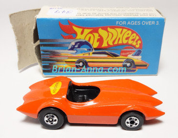 Hot Wheels Leo Mattel India, Second Wind Orange with Maggi tampo w/Box