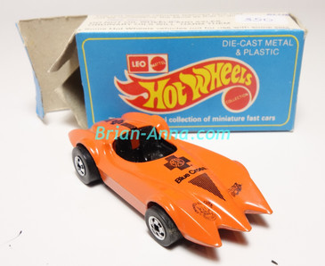 Hot Wheels Leo Mattel India, Second Wind Orange with Black Blue Cross tampo w/Box