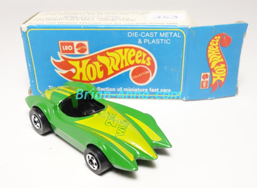 Hot Wheels Leo Mattel India, Second Wind Green with Yellow Second Wind tampo,  w/Box