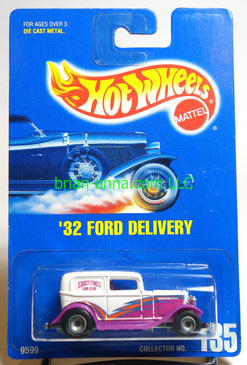 Hot Wheels '32 Ford Delivery, Early Times Car Club souvenir car, from 1993 Rod Run
