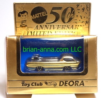 Hot Wheels Mattel Toy Club 24K Gold Deora (ms3991)