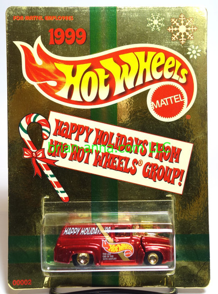 Hot Wheels Mattel Employee 1999 Christmas car, '56 Ford Panel Truck