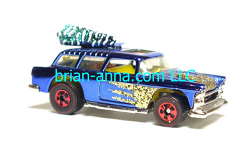 Hot Wheels 1996 Holiday Rods, Classic Nomad in Blue Chrome, loose