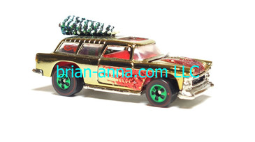 Hot Wheels 1996 Holiday Rods, Classic Nomad in Gold Chrome, loose