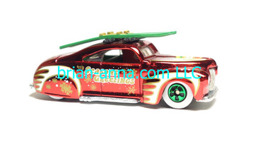 Hot Wheels 1999 Holiday Rods, Taildragger in Red Chrome, loose