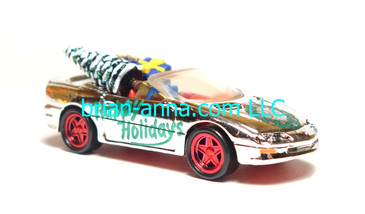 Hot Wheels 1995 Holiday Rods, '95 Camaro Convertible in Chrome, loose