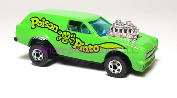Hot Wheels Poison Pinto, Light Green with lime green in tampo, made in France, loose