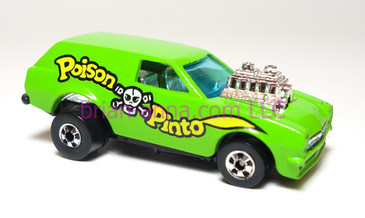 Hot Wheels Poison Pinto, Light Green with yellow in tampo, made in France, loose