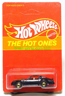 Hot Wheels Prototype/Sample, Market Research Blisterpaks, The Hot Ones, Black Hot Bird