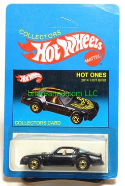 Hot Wheels Prototype/Sample, Market Research Blisterpaks, Hot Ones, Black Hot Bird