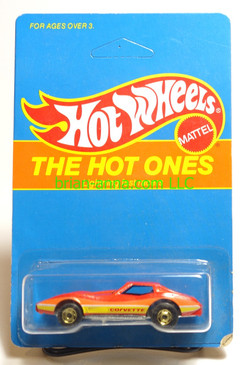 Hot Wheels Prototype/Sample, Market Research Blisterpaks, The Hot Ones, Corvette Stingray