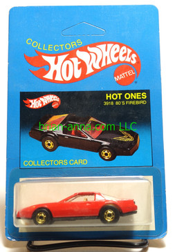 Hot Wheels Prototype/Sample, Market Research Blisterpaks, Hot Ones, 80's Firebird