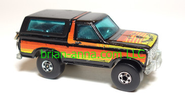 Hot Wheels Ford Bronco 4-wheeler, Black, loose