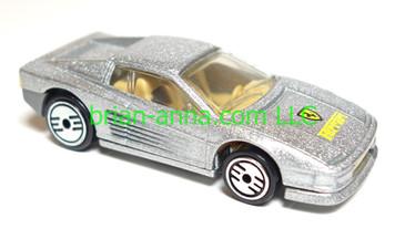 Hot Wheels Ferrari Testarossa, Metalflake Silver, Gray Bumper