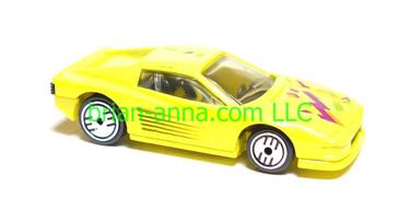 Hot Wheels Ferrari Testarossa, Yellow, UH wheels, loose