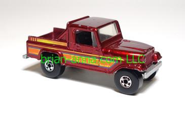 Hot Wheels Jeep Scrambler, Metalflake Red, BW wheels, loose