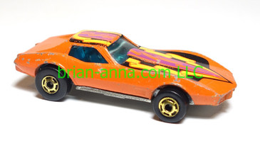 Hot Wheels Corvette Stingray, Orange, HOGD wheels, loose